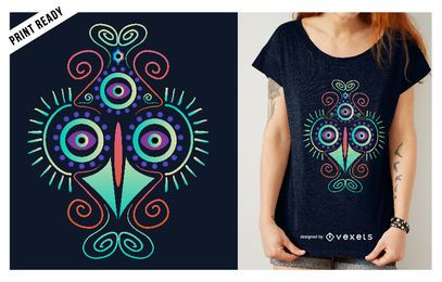 Psychedelic chicken t-shirt design