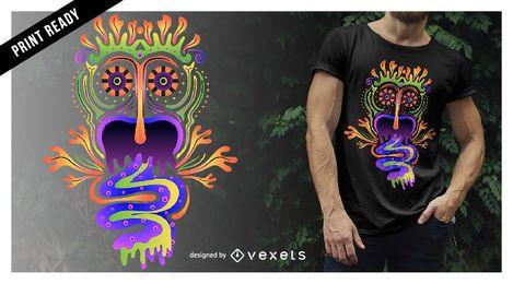 Design de t-shirt de criatura alucinante