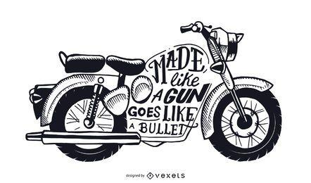 Geht wie ein Bullet-Motorrad