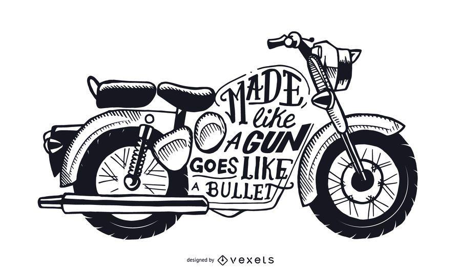 Vai como uma motocicleta de bala