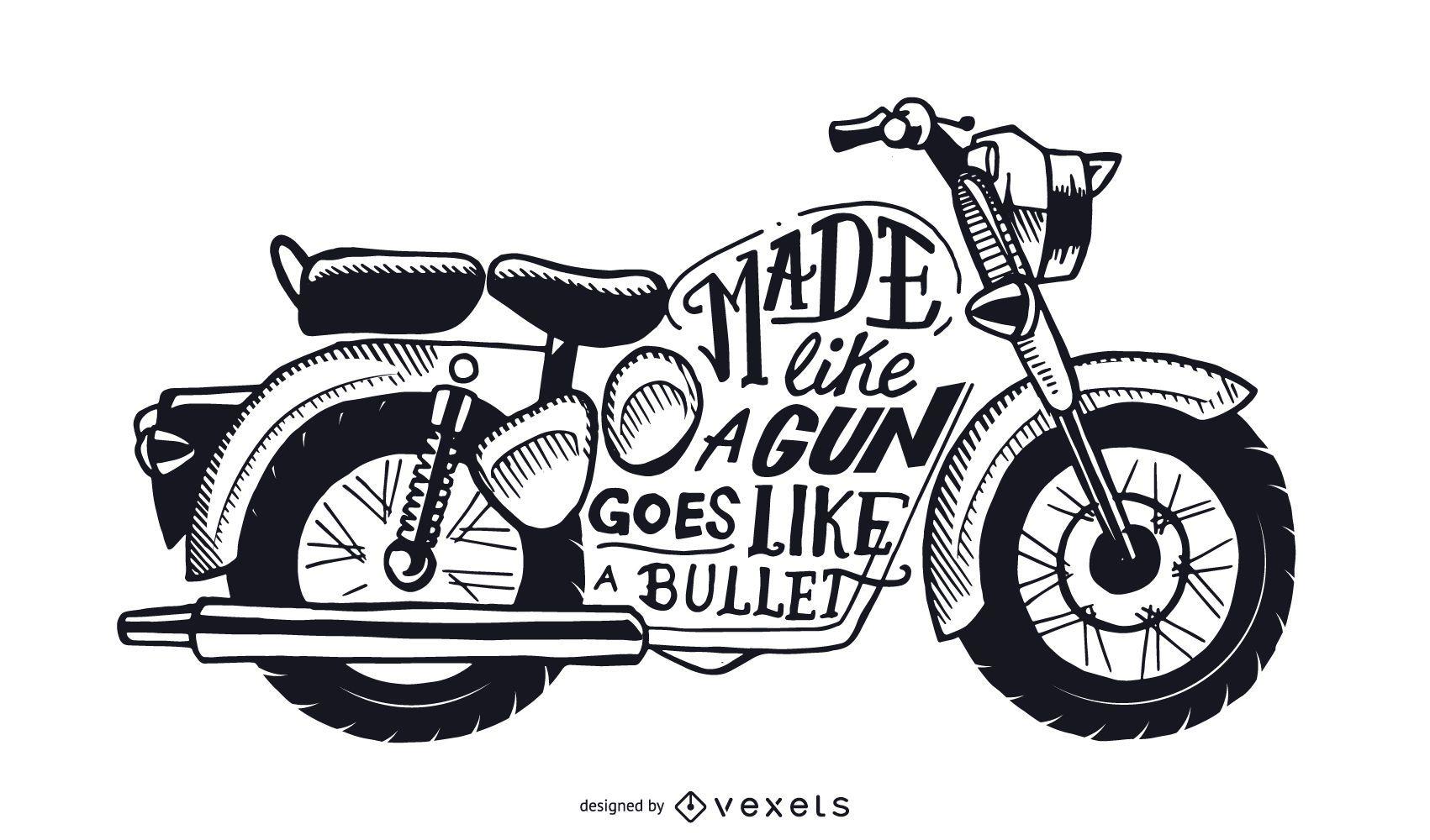 Goes like bullet motorcycle