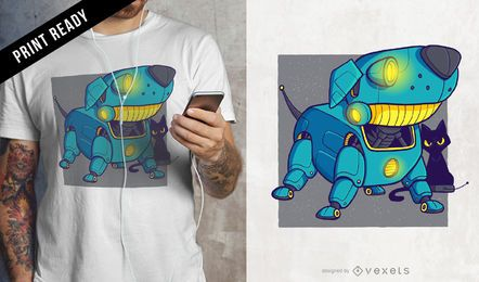 Robot dog t-shirt design