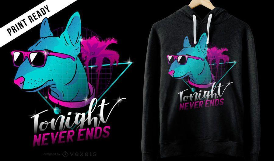 Design de camiseta de cachorro neon