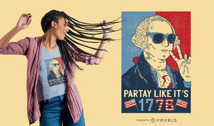 Washington Party T-Shirt Design