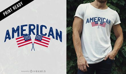 Diseño de camiseta americana