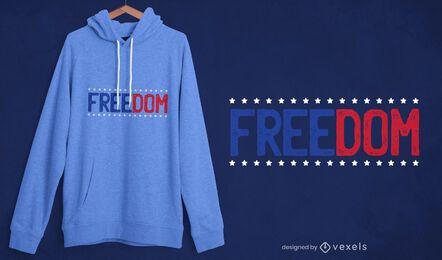 Diseño de camiseta Freedom