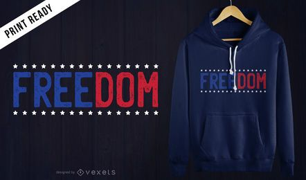 Diseño de la camiseta de la libertad