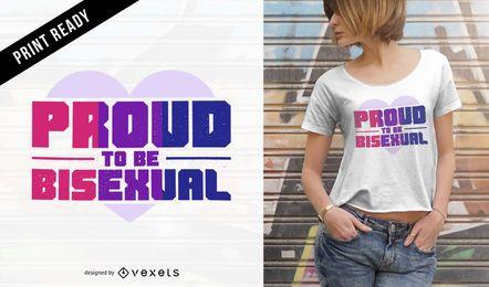 Orgulloso diseño de camiseta bisexual