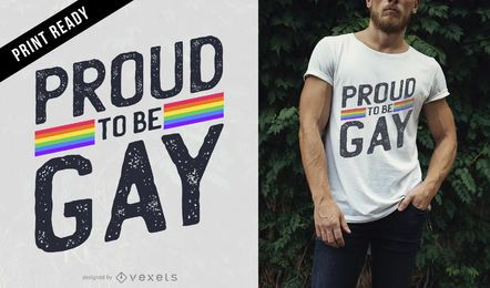 Proud gay t-shirt design