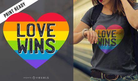 El amor gana el diseño de la camiseta.