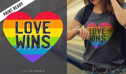 Love wins camiseta diseño