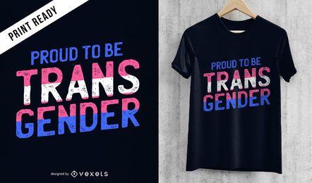 Projeto orgulhoso do t-shirt do transgender