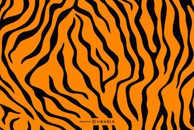 Patrón de rayas de tigre transparente