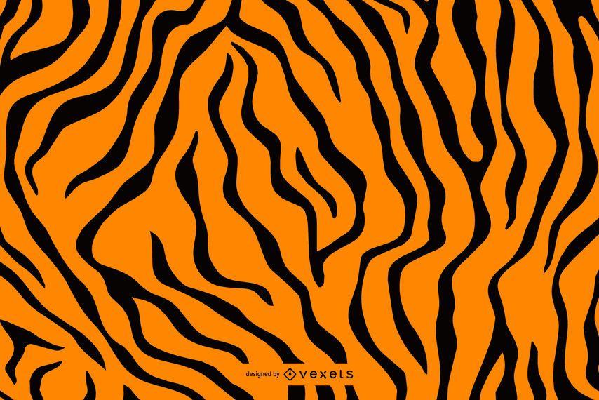 Patrón de rayas de tigre sin costura