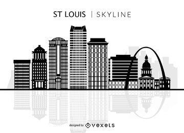 Silhueta do horizonte de St Louis