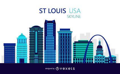 Ilustração do Skyline de Saint Louis