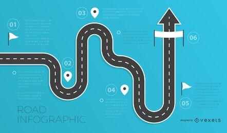 Modelo de infográficos de estrada