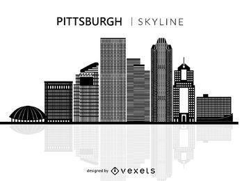 Silueta de horizonte de Pittsburgh