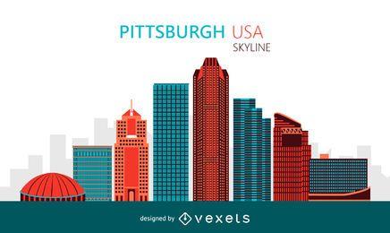 Ilustração do skyline de Pittsburgh