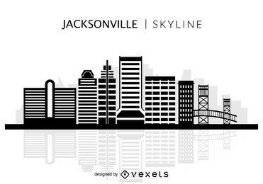Jacksonville skyline silhouette
