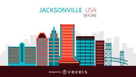 Ilustração do horizonte de Jacksonville