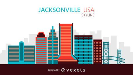 Jacksonville skyline illustration