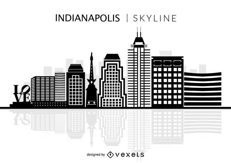 Indianapolis Skyline Silhouette