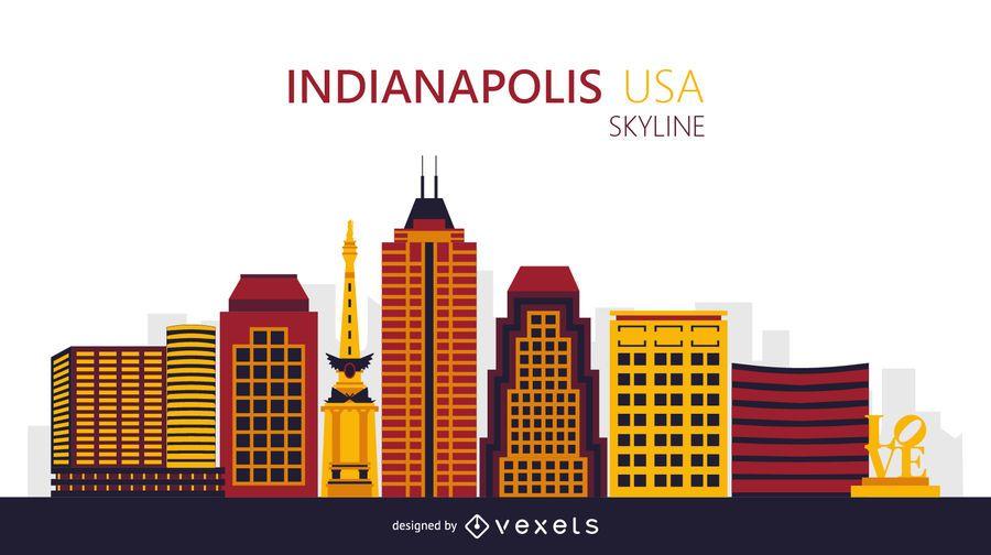 Indianapolis-Skylineillustration