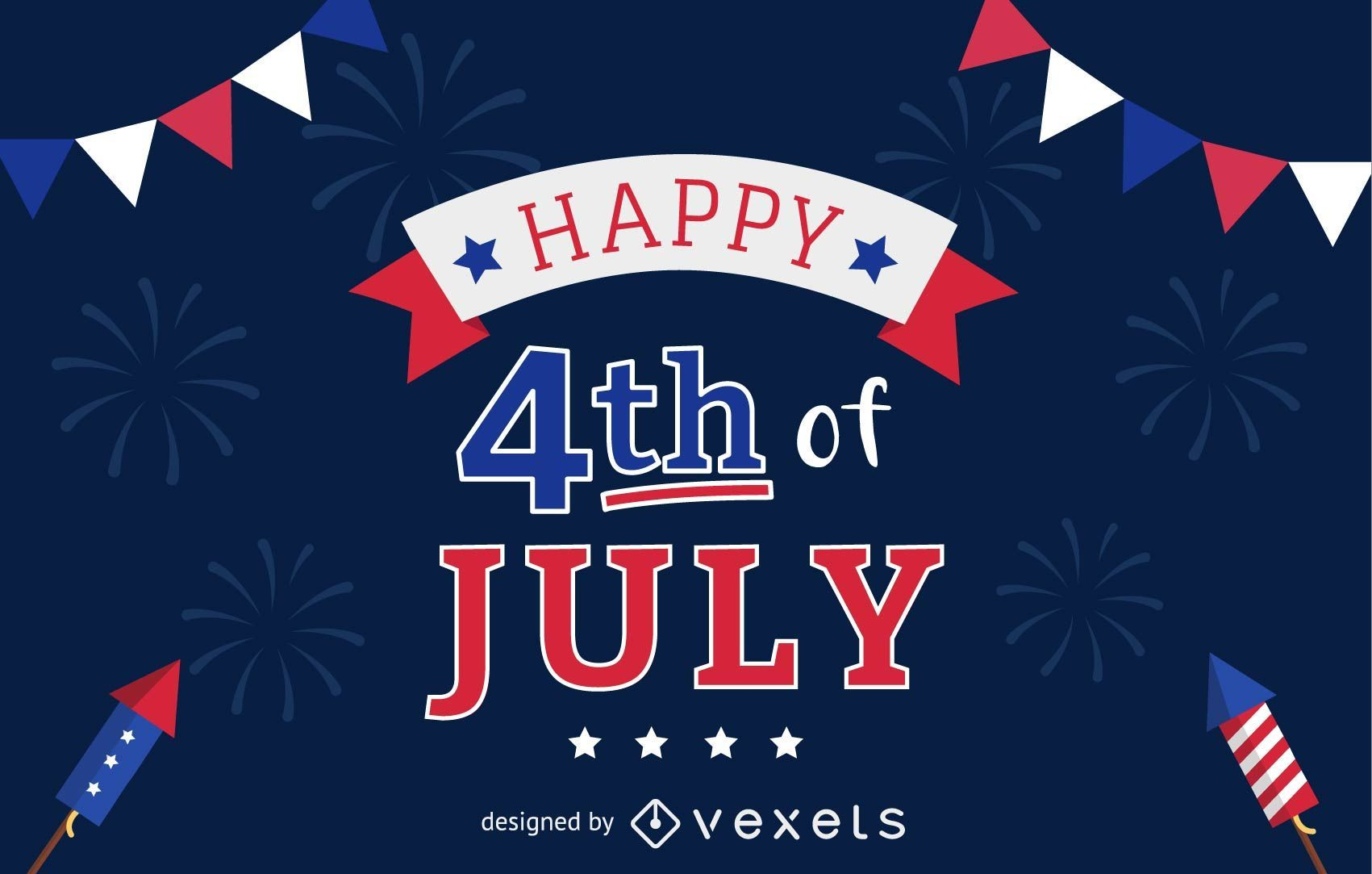 4th Of July Background Vector Download