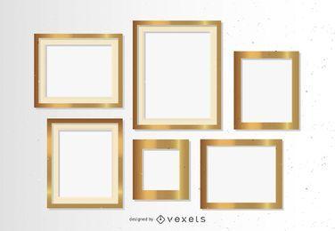 Goldene Rahmen gesetzt