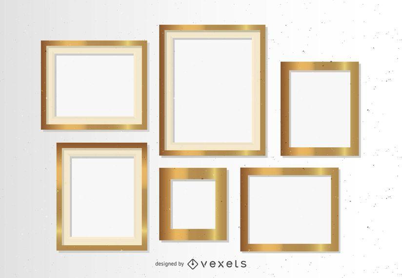Conjunto de marcos de oro
