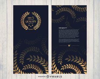 Folheto dourado de alta qualidade