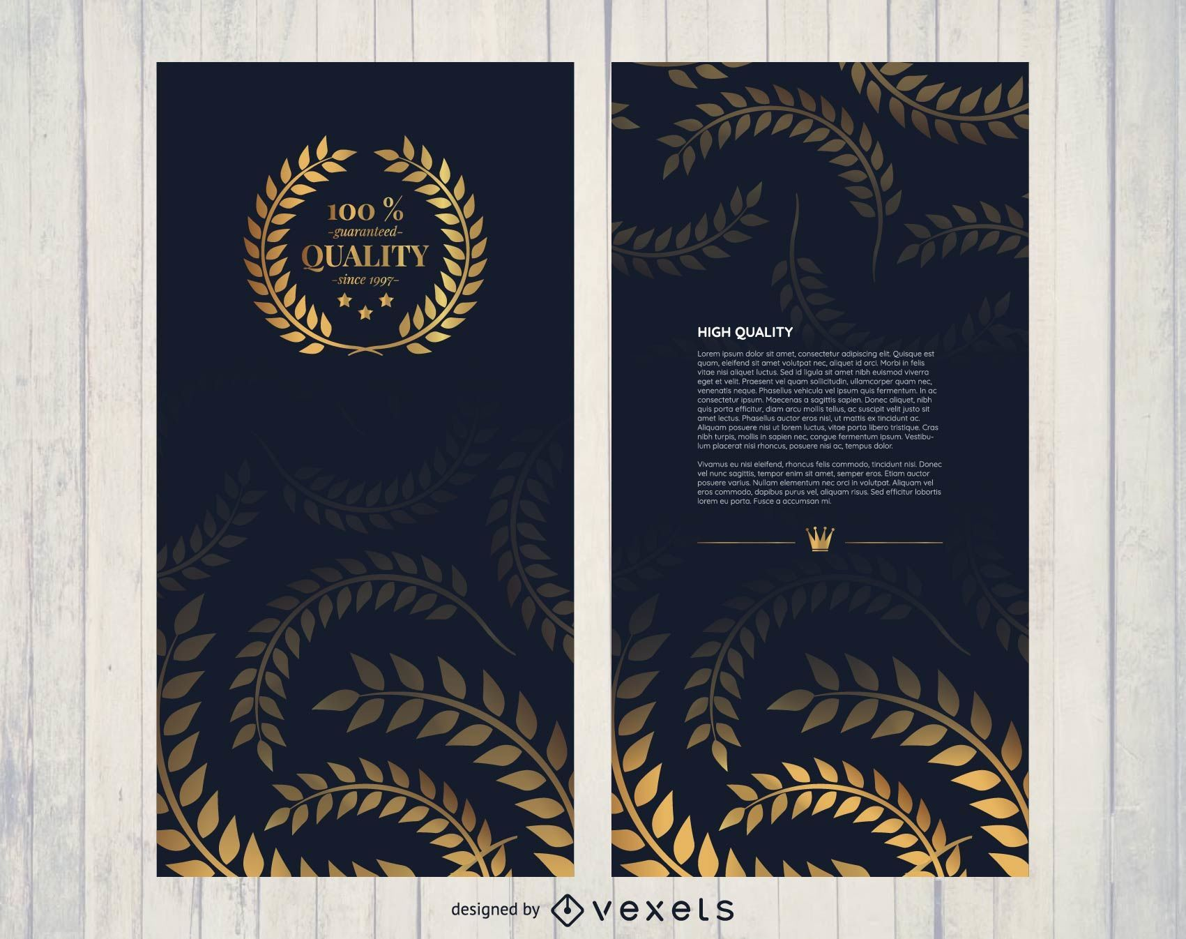 Golden high quality brochure