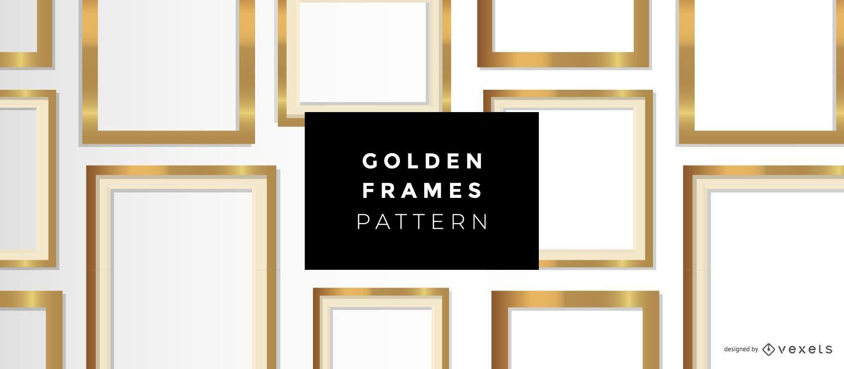 Padrão de molduras douradas