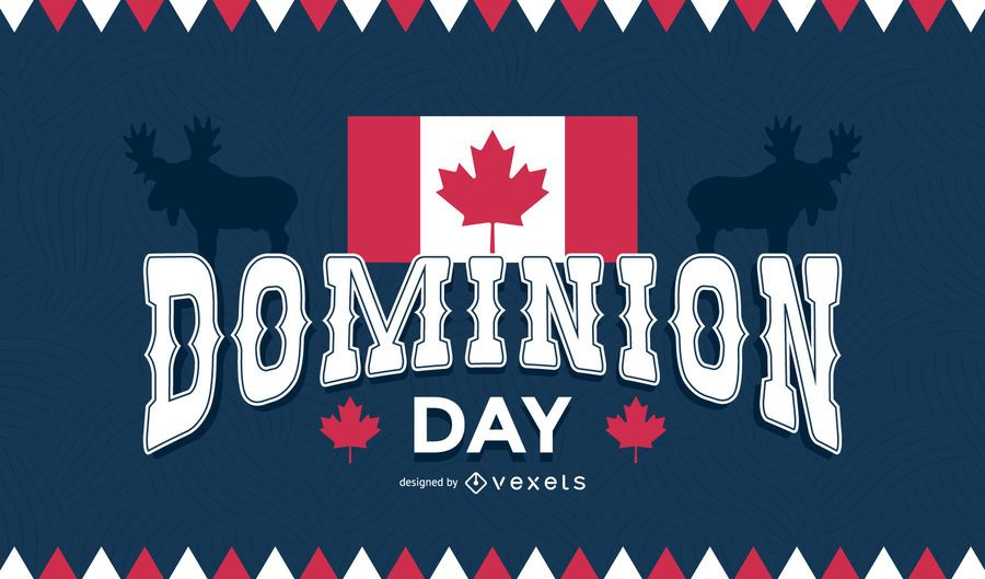 Dominion day background - Vector download