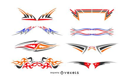 Abstract decals set