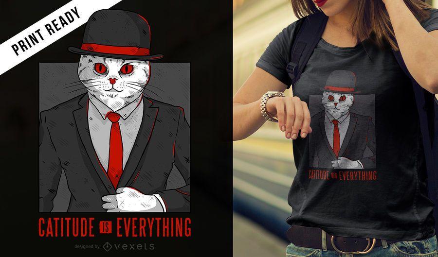 Cat quote t-shirt design