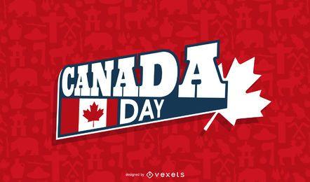Fundo do dia do Canadá