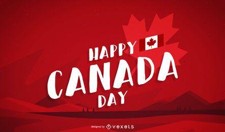 Feliz día de Canadá de fondo