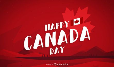 Happy Canada Day Hintergrund