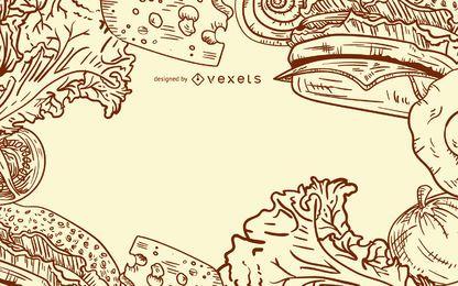 Burger Zutaten Design