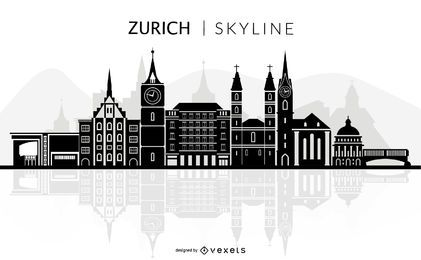 Zürich Skyline Silhouette