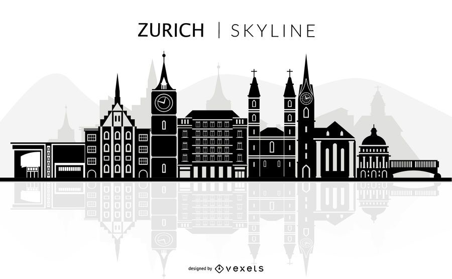 Zurich skyline silhouette