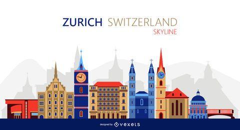 Ilustração do horizonte de Zurique