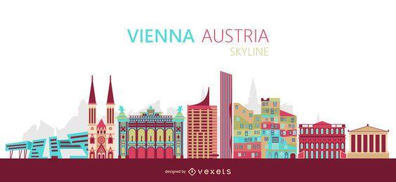 Vienna skyline illustration
