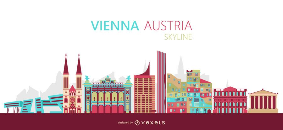 Vienna skyline illustration