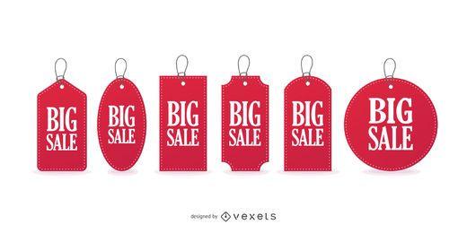 Große Verkaufspreis-Tags