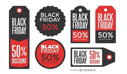 Etiquetas de preço da Black Friday
