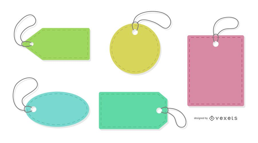 Etiquetas De Precios Coloridos Establecidos