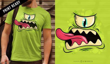 Diseño de camiseta Cyclops monstruo